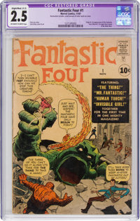 Fantastic Four #1 (Marvel, 1961) CGC Apparent GD+ 2.5 Slight/Moderate (C-2) Off-white to white pages
