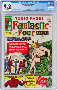 Fantastic Four Annual #1 (Marvel, 1963) CGC NM- 9.2 White pages