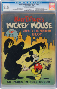 Four Color (Series One) #16 Mickey Mouse (Dell, 1941) CGC GD+ 2.5 Cream to off-white pages