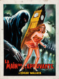 Movie Posters:Horror, Creature with the Blue Hand by Constantin Belinsky (Constantin Film, 1967). Fine/Very Fine. Signed Original Gouache Poster A...