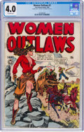 Golden Age (1938-1955):Crime, Women Outlaws #2 Double Cover (Fox Features Syndicate, 1948) CGC VG 4.0 Off-white pages....