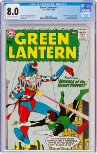 Green Lantern #1 (DC, 1960) CGC VF 8.0 Off-white to white pages