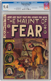 Haunt of Fear #11 Gaines File Pedigree (EC, 1952) CGC NM 9.4 White pages