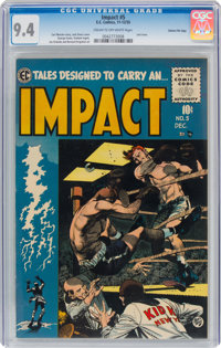 Impact #5 Gaines File Pedigree (EC, 1955) CGC NM 9.4 Cream to off-white pages