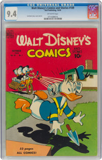 Walt Disney's Comics and Stories #109 (Dell, 1949) CGC NM 9.4 Off-white pages