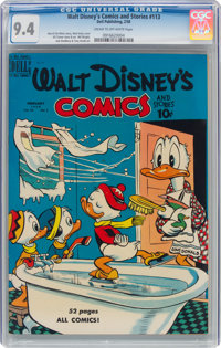 Walt Disney's Comics and Stories #113 (Dell, 1950) CGC NM 9.4 Cream to off-white pages