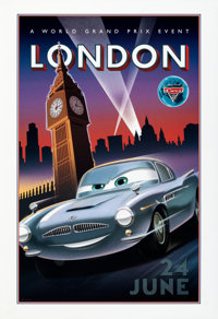 """Cars 2 (Walt Disney Pictures, 2011). Rolled, Near Mint. Special Promotional Posters (4) (18.5"""" X 27""""). ... (To..."""