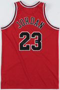 "Autographs:Jerseys, Michael Jordan Signed ""Upper Deck Authenticated"" Jersey."