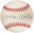 Autographs:Baseballs, Mickey Mantle Single Signed Baseball. Offered is t...