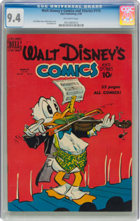 Walt Disney's Comics and Stories #114 (Dell, 1950) CGC NM 9.4 Off-white pages