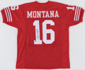 Autographs:Jerseys, Joe Montana Signed No. 16 Jersey. Offered here is ...