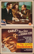 """Movie Posters:Drama, The Hucksters (MGM, 1947). Very Fine-. Title Lobby Card & Spanish Language Lobby Card (11"""" X 14""""). Drama.. ... (Total: 2 Items)"""