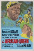 """Movie Posters:Adventure, The African Queen (Romulus, R-1950s). Rolled, Fine/Very Fine. British Silk Screen One Sheet (27"""" X 40""""). Adventure.. ..."""