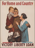 """Movie Posters:War, World War I Propaganda (U.S. Government Printing Office, 1918). Very Fine on Linen. Victory Loan Poster (30"""" X 40.25"""") """"For ..."""
