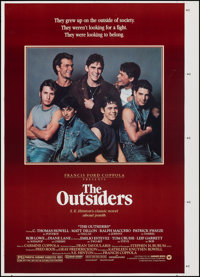 """The Outsiders (Warner Bros., 1983). Rolled, Very Fine. Printer's Proof One Sheet (30"""" X 42""""). Crime"""