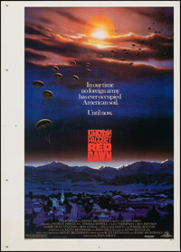 """Red Dawn (MGM, 1984). Rolled, Very Fine. Printer's Proof One Sheet (30"""" X 42"""") SS. John Alvin Artwork. Action..."""