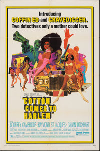 """Cotton Comes to Harlem (United Artists, 1970). Folded, Fine/Very Fine. One Sheet (27"""" X 41""""). Robert McGinnis..."""
