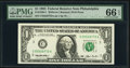 Fr. 1920-C $1 1993 Web Federal Reserve Note. PMG Gem Uncirculated 66 EPQ