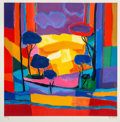 Prints & Multiples, Marcel Mouly (French, 1918-2008). Champs de Colza, late 20th century. Lithograph in colors on wove pap...