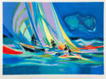 Prints & Multiples, Marcel Mouly (French, 1918-2008). Trois Yachtsmen, late 20th century. Lithograph in colors on wove pap...