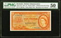 World Currency, Bermuda Bermuda Government 5 Pounds 1.5.1957 Pick 21b PMG About Uncirculated 50.. ...