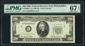Fr. 2059-C $20 1950 Federal Reserve Note. PMG Superb Gem Unc 67 EPQ