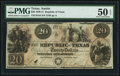 Austin, TX- Republic of Texas $20 Jan. 25, 1841 Cr. A6 Medlar 26 PMG About Uncirculated 50 EPQ