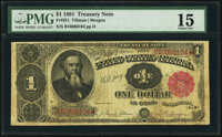 Fr. 351 $1 1891 Treasury Note PMG Choice Fine 15