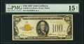 Small Size:Gold Certificates, Fr. 2405 $100 1928 Gold Certificate. PMG Choice Fine 15 Net.. ...