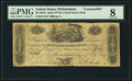 Philadelphia, PA- Bank of the United States (2nd) $5 Sep. 7, 1819 C4 Counterfeit PMG Very Good 8