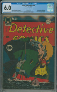 Detective Comics #58 (DC, 1941) CGC FN 6.0 Light tan to off-white pages