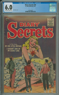 Diary Secrets #30 (St. John, 1955) CGC FN 6.0 Off-white to white pages