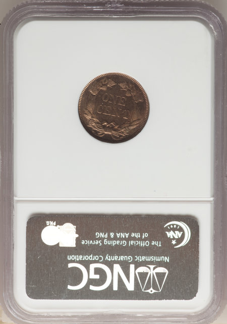 1858 1C SM LETTERS 65 NGC