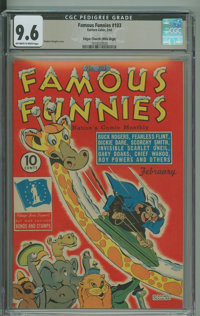 Famous Funnies #103 - Edgar Church Mile High copy. (Eastern Color, 1943) CGC NM+ 9.6 Off-white to white pages