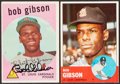 Autographs:Sports Cards, 1959 & 1963 Topps Bob Gibson Signed Baseball Cards (2)....
