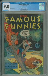 Famous Funnies #116 (Eastern Color, 1944) CGC VF/NM 9.0 White pages