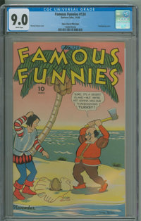 Famous Funnies #124 - Edgar Church Mile High copy. (Eastern Color, 1944) CGC VF/NM 9.0 White pages