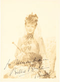 "Music Memorabilia:Autographs and Signed Items, Billie Burke Signed and Inscribed 5"" x 7"" Photo...."