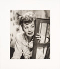 Movie/TV Memorabilia:Autographs and Signed Items, Lucille Ball Signed and Inscribed Black and White Photo Wi...