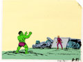 Animation Art:Production Cel, The Marvel Superheroes Show Incredible Hulk and Metal Master Villain Production Cel and Key Master Background with Com... (Total: 4 Items)