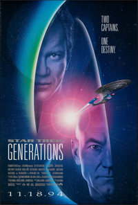 "Star Trek: Generations & Other Lot (Paramount, 1994). Rolled, Fine/Very Fine. One Sheets (2) (27"" X 40"") D..."