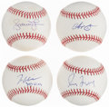 Autographs:Baseballs, 1990s Atlanta Braves Greats Single Signed Baseballs, Lot o...