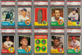 Baseball Cards:Lots, 1963 Topps Baseball (Second Series) PSA-Graded Collection (10). ...