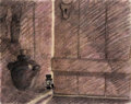 Animation Art:Concept Art, Pinocchio Jiminy Cricket Concept Drawing with Courvoisier Stamp (Walt Disney, 1940)....