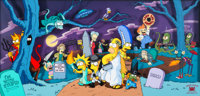 """The Simpsons """"Treehouse of Horror"""" Signed Limited Edition Cel Display #138/300 (Fox, 1995)"""
