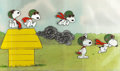 Animation Art:Production Cel, Peanuts The Charlie Brown and Snoopy Show Snoopy Production Cels Sequence of 5 with Key Master Background and Anim... (Total: 11 )