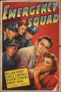 """Movie Posters:Action, Emergency Squad (Paramount, 1940). Folded, Very Good/Fine. One Sheet (27"""" X 41""""). Action.. ..."""