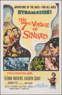 "The 7th Voyage of Sinbad (Columbia, 1958). Very Fine- on Linen. One Sheet (27"" X 41""). Fantasy"