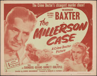 """The Millerson Case (Columbia, 1947). Rolled, Very Fine-. Half Sheet (22"""" X 28"""") Style A. Mystery"""