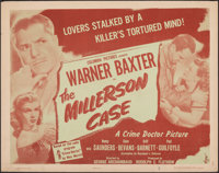 """The Millerson Case (Columbia, 1947). Rolled, Fine/Very Fine. Half Sheet (22"""" X 28"""") Style B. Mystery"""